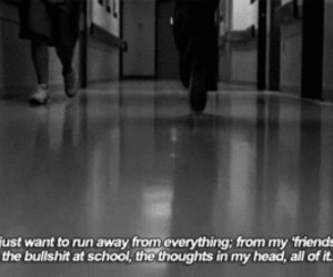 quotes, school, and sad image