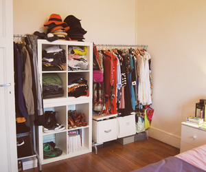 room, clothes, and dressing image