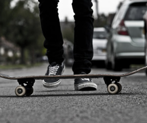 skate, vans, and photography image