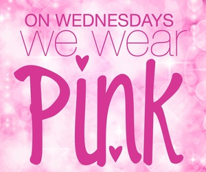 pink, mean girls, and love image