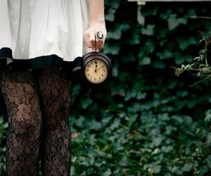 clock, time, and dress image