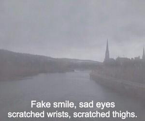 sad, fake, and quote image