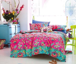 bedroom, bed, and decor image