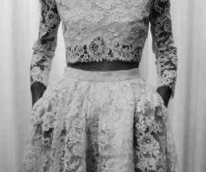 fashion, dress, and lace image