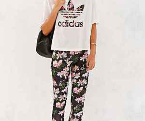 adidas and floral image