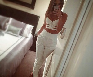 girl, white, and outfit image