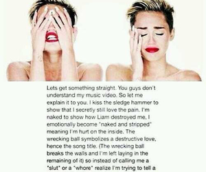 miley cyrus, miley, and wrecking ball image