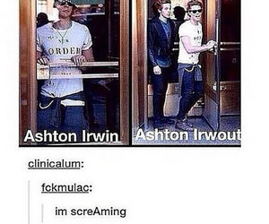 ashton irwin, funny, and 5sos image