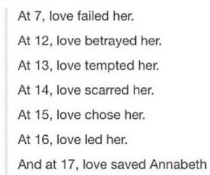 annabeth chase, percabeth, and love image