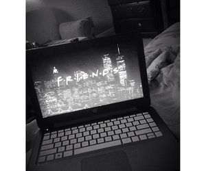 black and white, grunge, and tv image