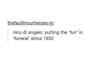 funeral, funny, and percy jackson image