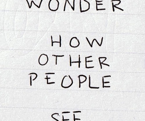 quotes, other people, and i wonder image