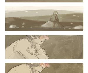 the hobbit, bilbo, and thorin image