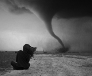 black and white, tornado, and cyclone image