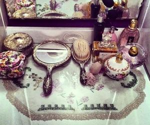 mirror, vintage, and perfume image