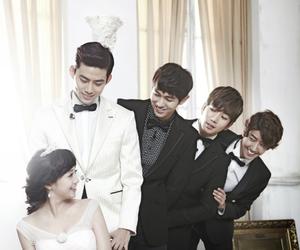 guigui, taecyeon, and wedding image