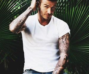 David Beckham, tattoo, and Hot image