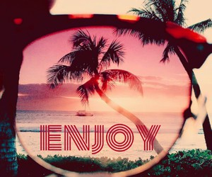 beach, enjoy, and glasses image