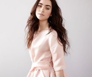 lily collins, collins, and dress image