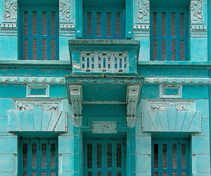 blue, house, and turquoise image
