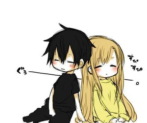 anime, kawaii, and kirito image