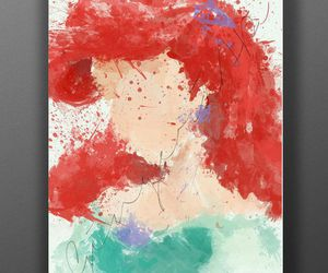ariel, disney, and paint image