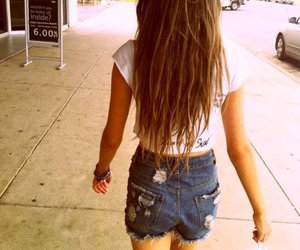 jeans, long hair, and brunette image