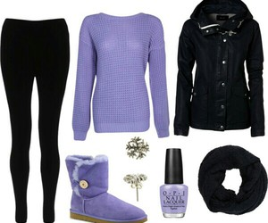 black, cold, and outfit image