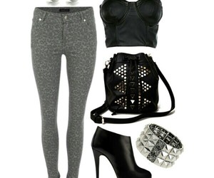 black, grey, and leopard image
