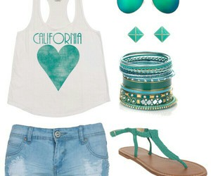 beach, outfit, and relax image