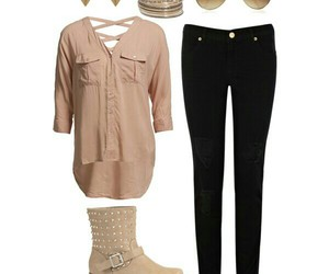 black, Polyvore, and camel image