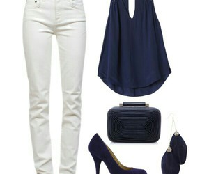 navy blue, outfit, and party image