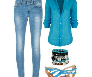 blue, casual, and outfit image