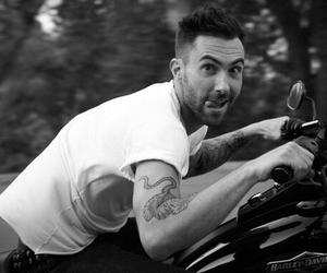 adam levine, black and white, and funny image