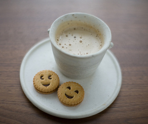 coffee, Cookies, and smile image