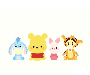 cute, piglet, and pooh image
