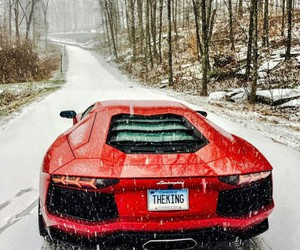 car, Lamborghini, and red image