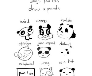 panda, draw, and drawing image