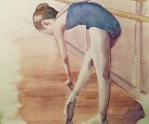 ballet, dancer, and drawing image