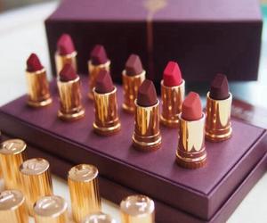 lipstick, girl, and beauty image