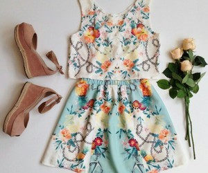 dress and floral image