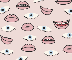 background, eyes, and pink image