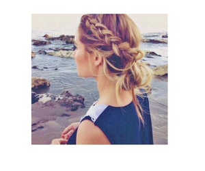 beach, hairstyle, and ocean image