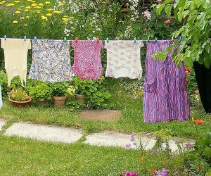 clothesline, launderette, and country living image
