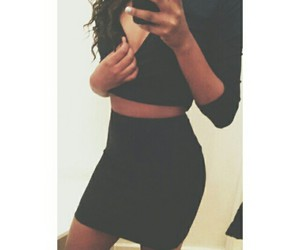 fashion, high waist, and twopiece image