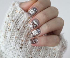 nails, winter, and christmas image