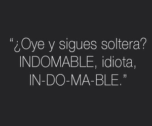 soltera, indomable, and frases image