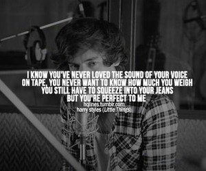 little things, one direction, and quote image