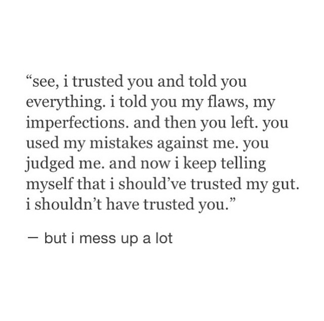 I trusted you.. shared by Kaitlyn on We Heart It