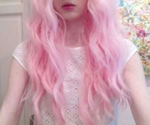 girl, hair pink, and grunge image